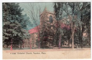 Taunton, Mass, Unitarian Church - Rotograph