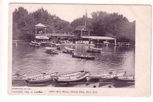 Boat House, Central Park, New York, Copyright 1895 a Loeffler, Blanchard Press