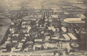 Airplane Aerial View of Princeton University Campus Unposted Postcard