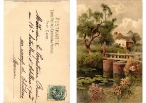 CPA Dein Heim Dein Gluck Meissner & Buch Litho Serie 1251 (730621)