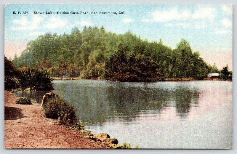 San Francisco California~Golden Gate Park~Dirt Path Along Stowe Lake~c1910