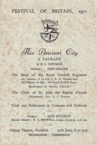 This Ancient Norfolk City Boy Scouts Girl Guides Pageant 1951 Ephemera