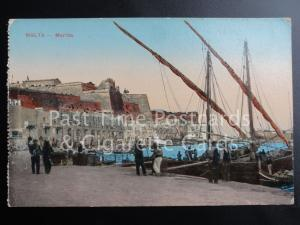 Old PC Malta: Marina - showing Fishing Boats