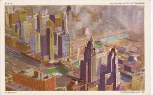 Illinois Chicago City Of Towers Aerial View