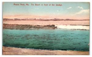 1909 The Beach in Front of the Jocelyn, Prouts Neck, Maine Postcard
