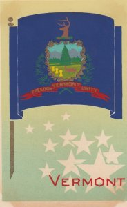 VERMONT , State Flag , 40-50s ; Serigraph