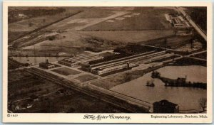 1927 FORD MOTOR COMPANY Factory Postcard Engineering Laboratory, Dearborn Mach