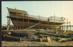 Nova Scotia SHELBURNE Fishing Dragger under Construction - Chrome