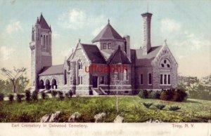 pre-1907 EARL CREMATORY IN OAKWOOD CEMETERY, TROY, NY.