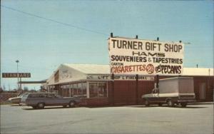 Franklin KY Turner's Gift Shop Cigarettes Pecans Car Truck c1970 Postcard