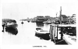 Luhenburg Nova Scotia Canada Harbor View Real Photo Antique Postcard J77238