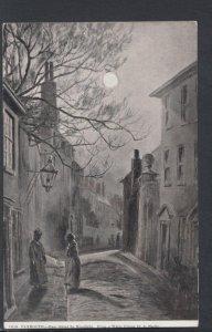 Devon Postcard - Old Plymouth - Ham Street By Moonlight DC2348