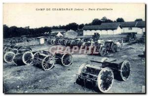 Old Postcard Fancy Army Camp Chambaran Parc d & # 39artillerie