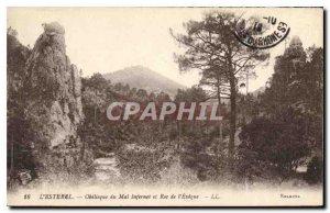 Old Postcard L'Esterel Oblisque Evil Infernet and Roc de l'Eveque