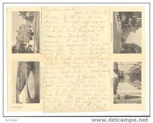 Envelope PC, 5-Views Of Tewkesbury, England, 1909