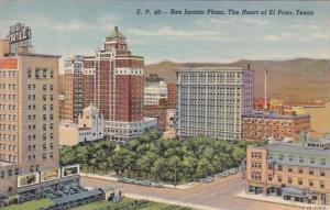 Texas El Paso San Jacinto Plaza 1949 Curteich