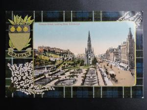Scotland GRAHAM TARTAN & ARMS Edinburgh Princess Street c1911 by Valentine