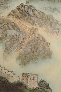 The Great Wall China Map Sheraton Hotel Beijing Postcard