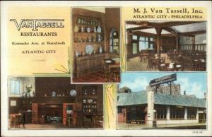 Atlantic City & Philadelphia Van Tassell Restaurants c1920 Postcard