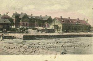 sweden, Unknown Town, Harbour Scene (1906) Postcard