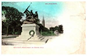 Wisconsin  Milwaukee , Soldier's Monument on Grand Ave
