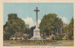 COBOURG , Ontario , 1930s ; War Memorial, Victoria Park