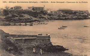 Afrique Occidentale Senegal Dakar Anse Bernard Casernes de la Pointe Postcard