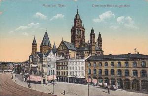 Dom Von Hofchen Gesehen, Mainz am Rhein (Rhineland-Palatinate), Germany, 1900...