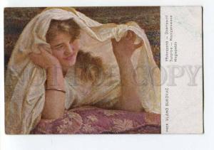 264618 Portrait Girl in White by VLAHO BUKOVAC Vintage SALON