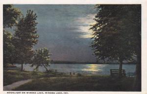 Indiana Winona Lake Moonlight On Winona Lake 1955 Curteich