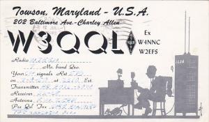 W 3 Q Q L Towson Maryland Charley Allen 1950