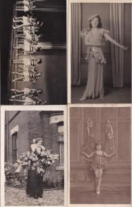 Child As Butterfly Fancy Dress Norfolk 4x Real Photo & Antique Postcard s