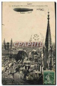 Old Postcard Aviation Zeppelin Airship The airship Nancy City Nancy evolving ...
