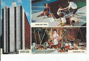 CH-357 ME, Portland Sheraton-Eastland Motor Hotel, Chrome Postcard Maine