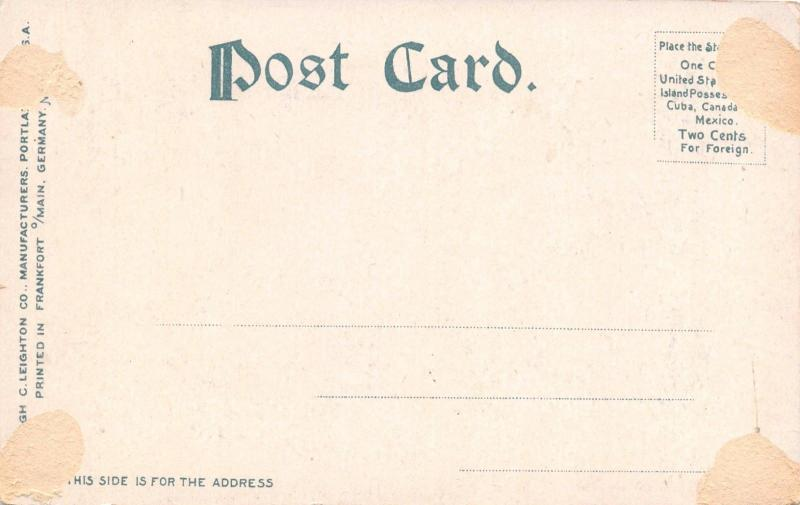 AUBURN MAINE COURT STREET TOWARD LEWISTON ~TROLLEY~STOREFRONTS POSTCARD 1910s