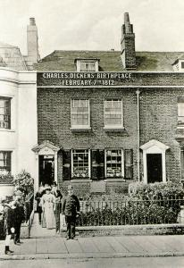 Repro Postcard 100th Anniv 1912 Charles Dickens Birthplace Museum Portsmouth 18S