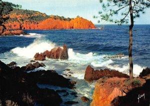 France Cote de l'Esterel Montagne Blue Sea Landscape Postcard