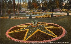 Flower Beds, Natatorium Park Spokane, Washington, USA 1919