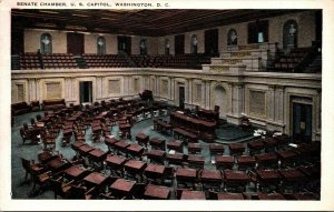 Vtg 1920s Senate Chamber U.S. Capitol Washington DC Postcard