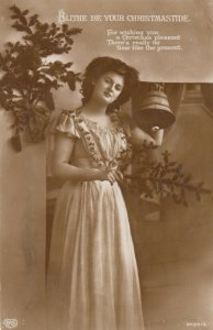 RP; Woman Holding a Bell , Christmas , 00-10s