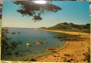 Herm western coast boats at anchor - unposted