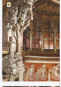 Postal 045526 : Busto de A. Clave y alegoria de Les Flors de Maig. Esculturas...