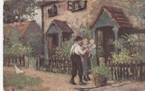 TUCK 1527 , England , PU-1915; English Cottage Homes III, There is Daddy