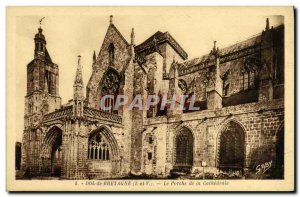 Old Postcard Dol de Bretagne Porch of the Cathedral