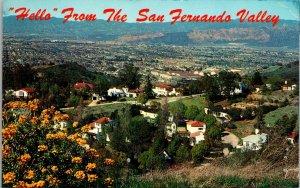 Greetings From San Fernando Valley Los Angeles CA Vintage Postcard