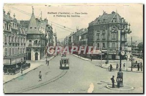 Postcard Old Place Corbis Belfort Territory and Faubourg des Ancetres Tramway