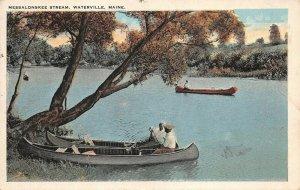 LPS98 Waterville Maine Messalonskee Stream Vintage Postcard