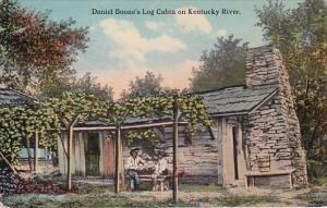 Daniel Boones Log Cabin On Kentucky River Kentucky
