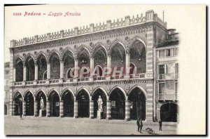 Old Postcard Padova Loggia Amulea