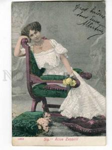 251248 Alice ZEPPILLI Italian OPERA Singer Vintage postcard